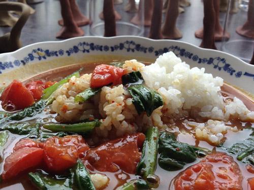 トマトと小松菜