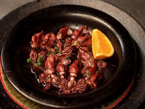 ホタルイカ醤油漬け焼き